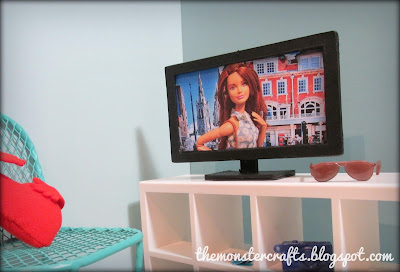 How to make a doll tv that works for Barbie and Monster High