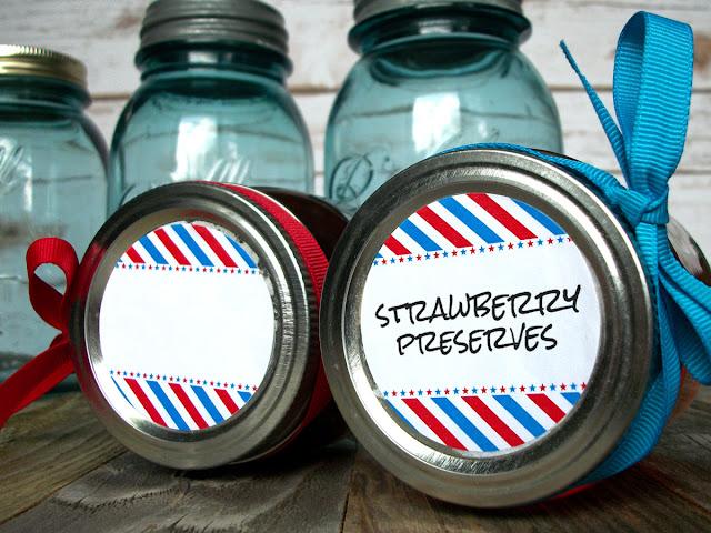 Stars & Stripes Canning Jar Labels