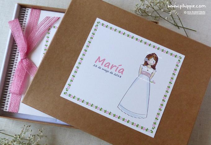 libro comunion personalizado caja