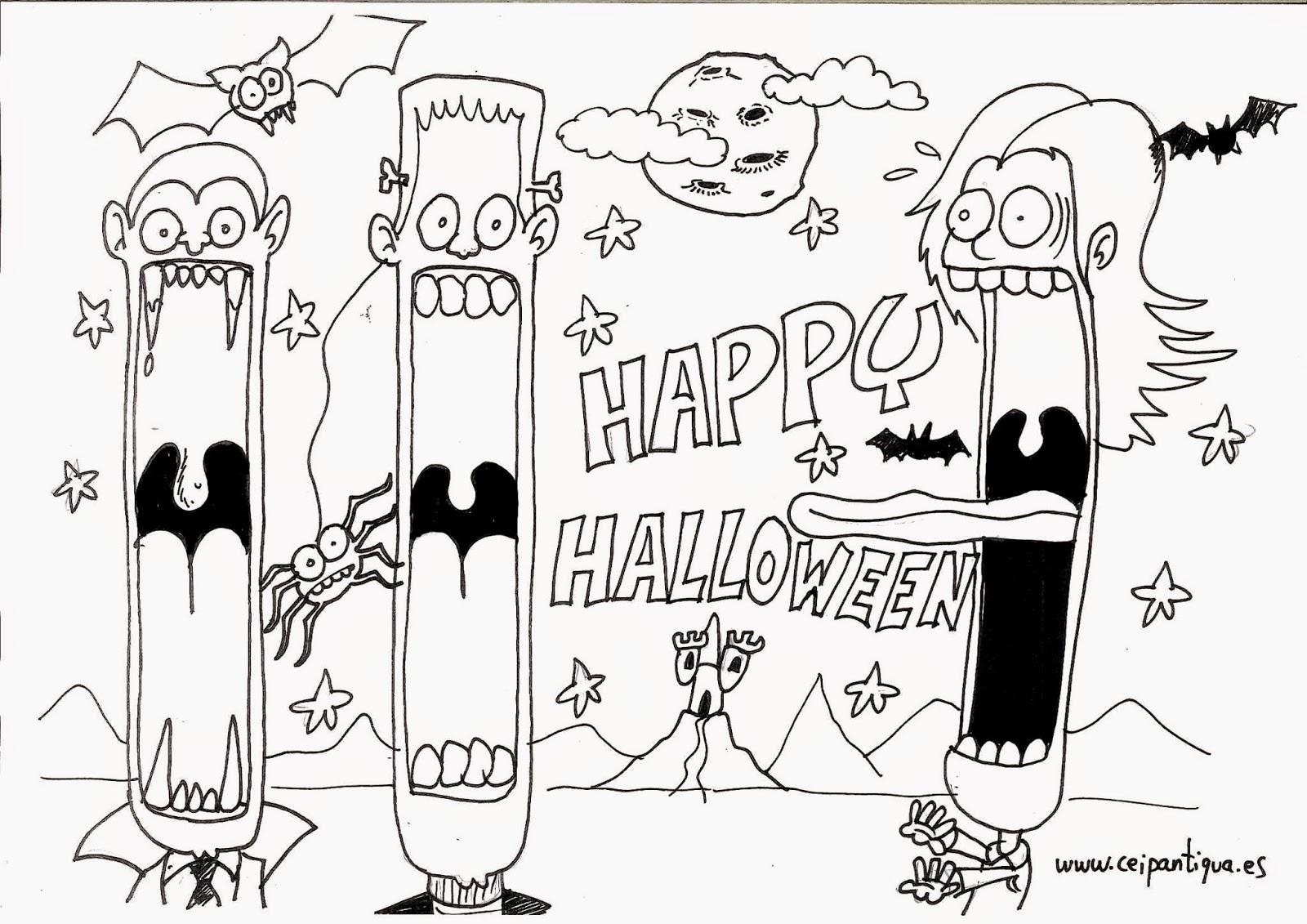 English At Ntra Sra De La Antigua School Halloween Art