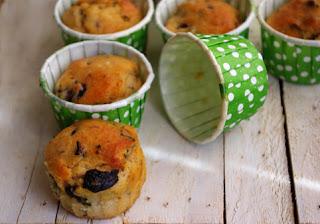 Margarinsiz Zeytinli Muffin