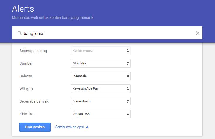 Cara Membuat RSS Feed untuk Hasil Pencarian Google