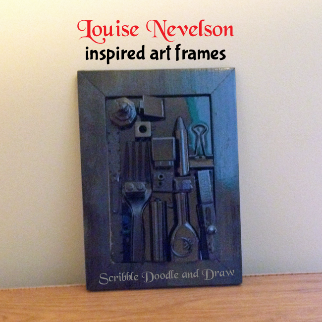 Louise Nevelson art frame idea for kids - Exploring famous artists