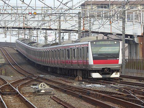 【ちばアクアラインマラソン2016臨時快速】E233系木更津行き
