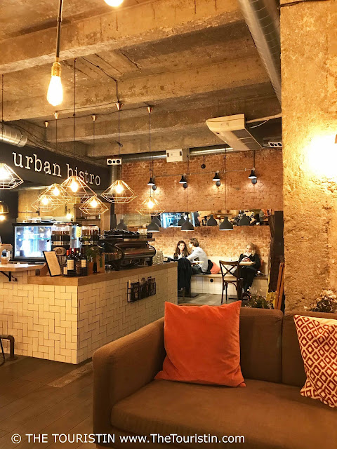The hipster interior of the Urban Bistro in Bratislava in Slovakia