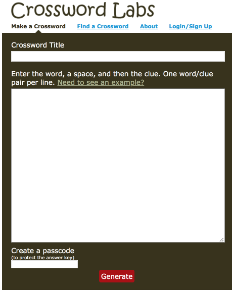 Crosswordlabs A Simple Tool To Create Crossword Puzzles For Your