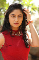 Telugu Actress Zahida Sam Latest Pos in Red Gown at RF Films New Movie Opening  0222.JPG