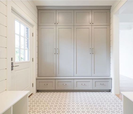 Peonies and orange blossoms french farmhouse mudroom ideas for Farmhouse mudroom ideas