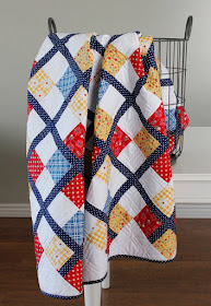 Preppy - an argyle inspired free quilt pattern by A Bright Corner