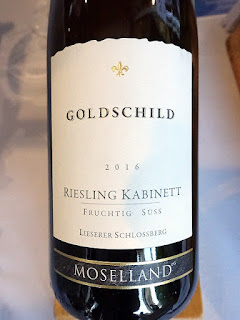 Moselland Goldschild Single Vineyard Riesling Kabinett 2016 (88 pts)