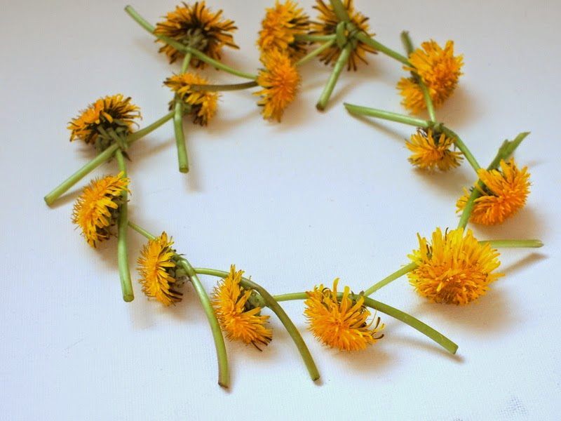 DIY Dandelion crown