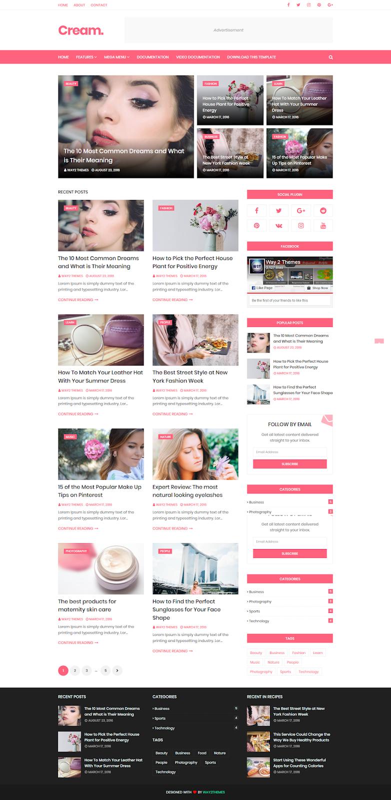 Cream Blogger Template