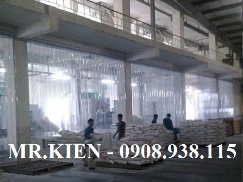 Vách ngăn nhựa PVC chống bụi bẩn, ngăn cản mùi hôi, cản khói độc trong Nhà máy Hoá chất Biên Hoà