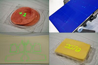 Laserpositionierhilfe und Laserinformationsanzeige anhand verschiedener Werkstücke