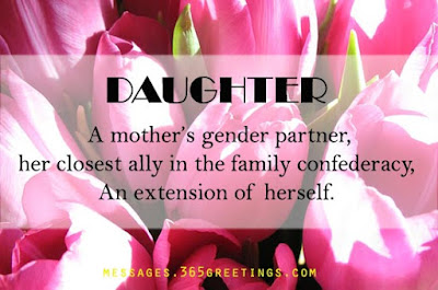 Love Quotes For Mother From Daughter: a mother's gender parner,