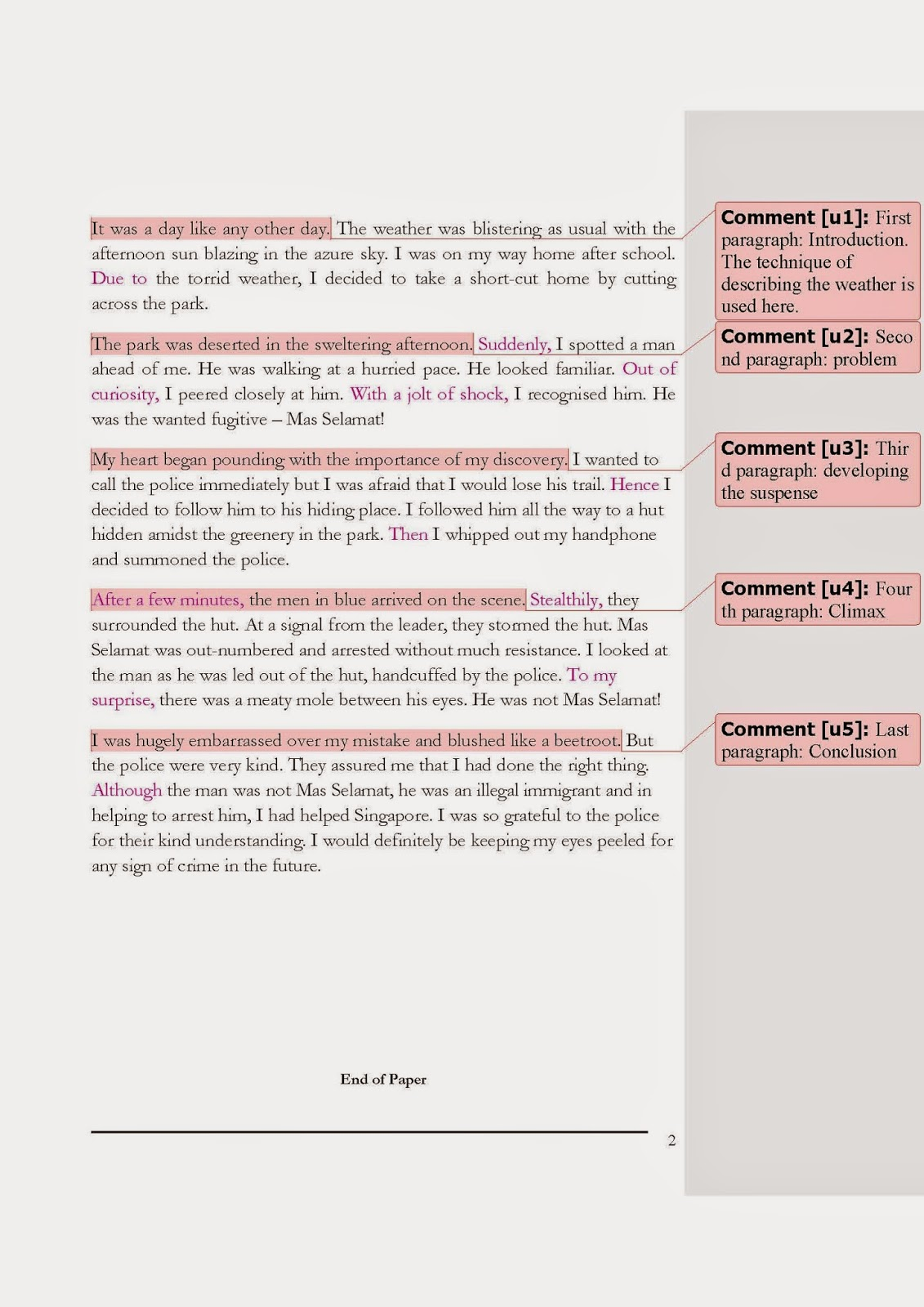 Essay closing words of 250