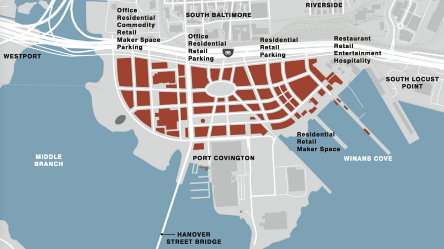 Under Armour Campus Map.Rebuilding Place In The Urban Space Baltimore S Port Covington Tif