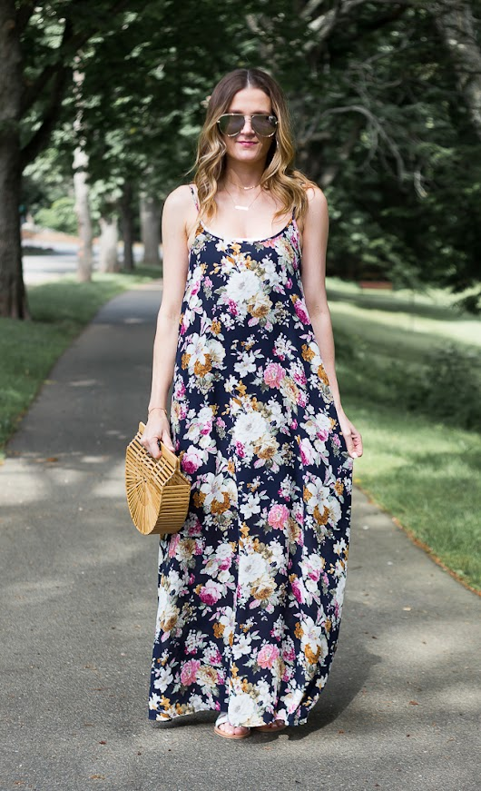 How To Style A Floral Maxi Dress Two Ways