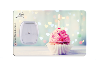 Diamant Geschenkkarte - Happy Birthday Cupcake