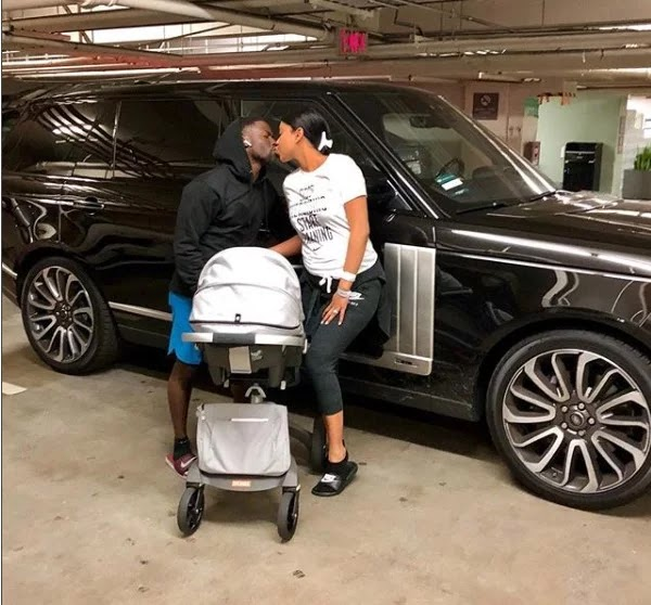 Kevin Hart and Eniko return home with their son