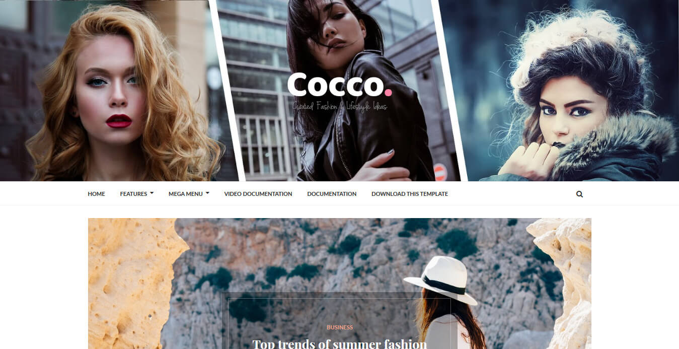 Cocco Stylish Blogger Template