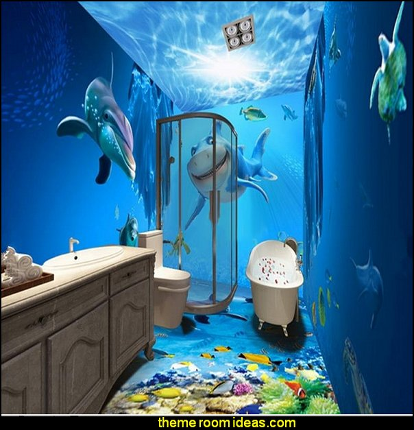 bathroom rugs - bathroom shower curtains - bathroom wall decal stickers - bathroom floor wallpaper murals - bathroom wall murals