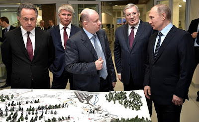 President Putin in Krasnoyarsk.