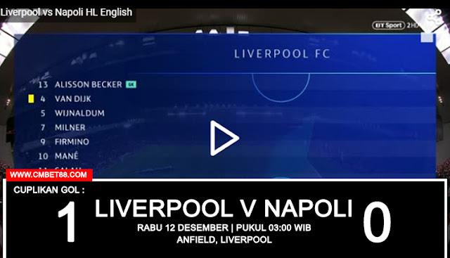 Cuplikan Gol : Liverpool 1-0 Napoli [Europa - Champions League]