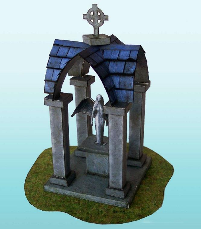 PAPERMAU: The Mausoleum Paper Model For Dioramas, RPG