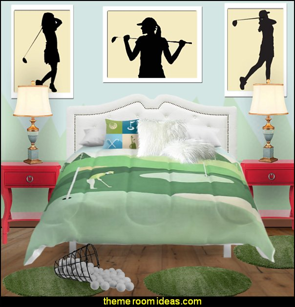 girls golf bedrooms decor womens golf bedding womens gold wall decals