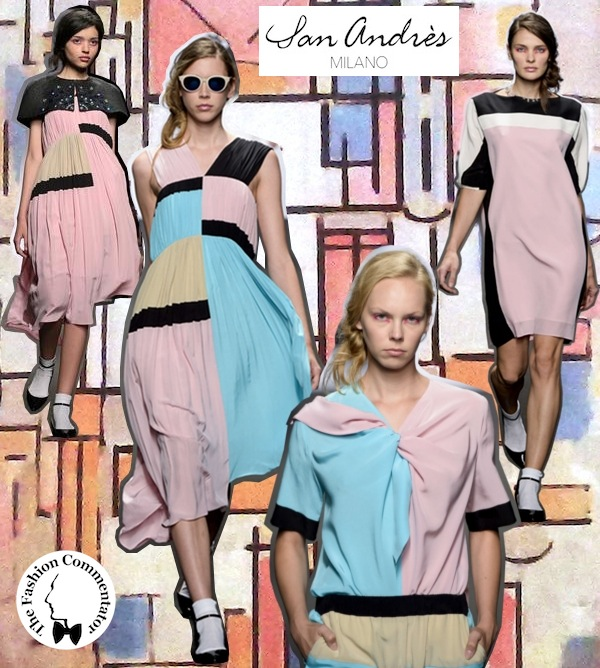 San Andrès SS 2014 collage by Alessandro Masetti inspired to Piet Mondrian
