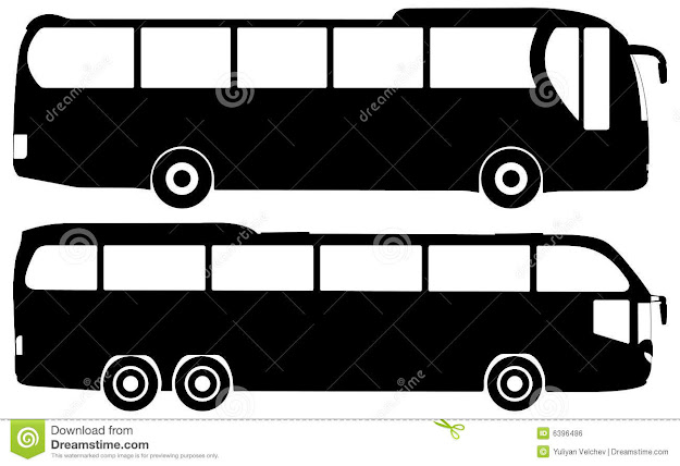 Bus Vector Set Royalty Free Stock Image