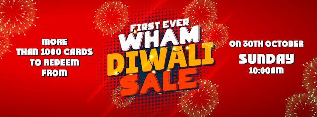 {LOOT} WHAM App DiWali Sale -1000 GiftCards to Redeem 30 Oct