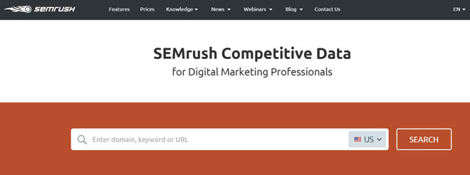 samrush keyword research tool