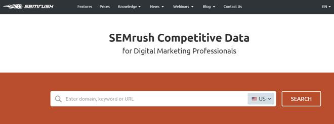 samrush keyword research tool