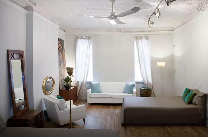 Air BnB Restored Sea Captain's House Bedroom