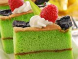Pandan Plum Cotton Cake