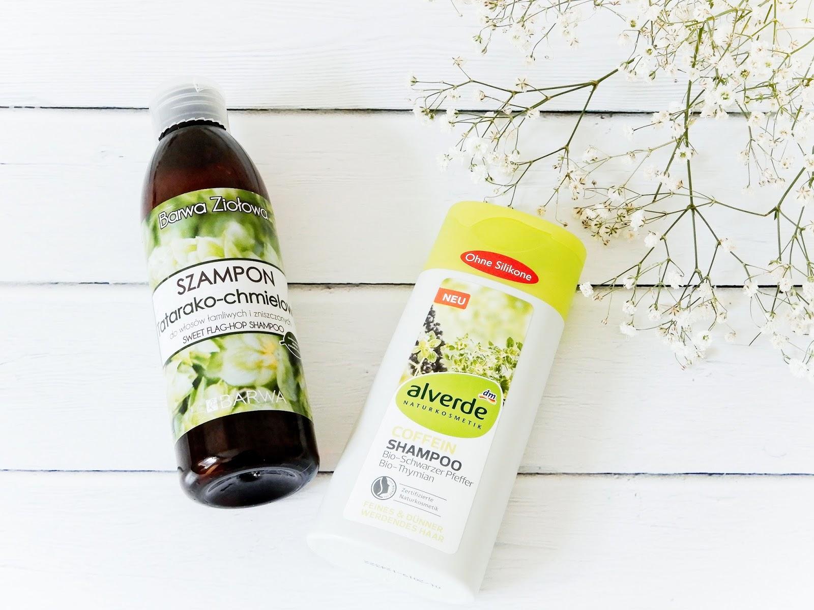 Barwa szampon tatro chmielowy, Alverde szampon kofeinowy, szampon kofeinowy, szampon Barwa, szampon Alverde,