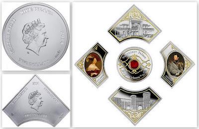 Монета-пазл, Ниуэ, 2014 г. Воронцовский дворец в Алупке