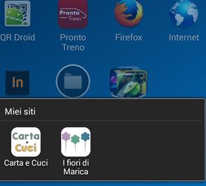Blog Design per 'I fiori di Marica' - icona mobile