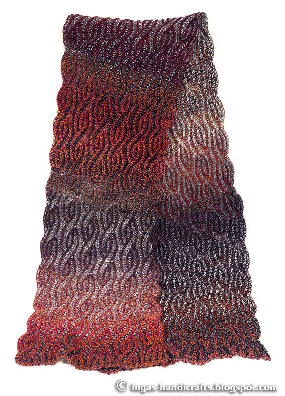 patentkoes sall / Brioche scarf