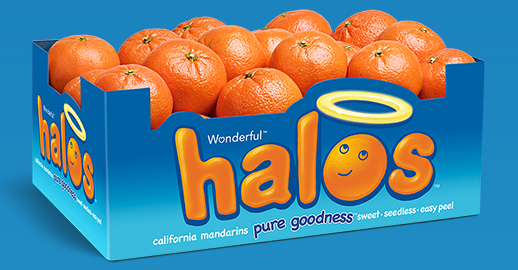 Box of Wonderful Halos mandarin oranges