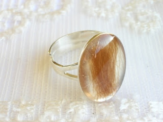 Lock of hair keepsake ring