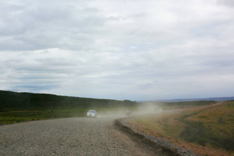 Carretera de gravilla de Islandia