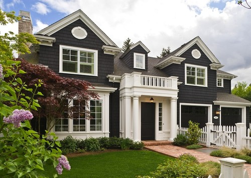 Dark houses design indulgence - Sherwin williams black fox exterior ...