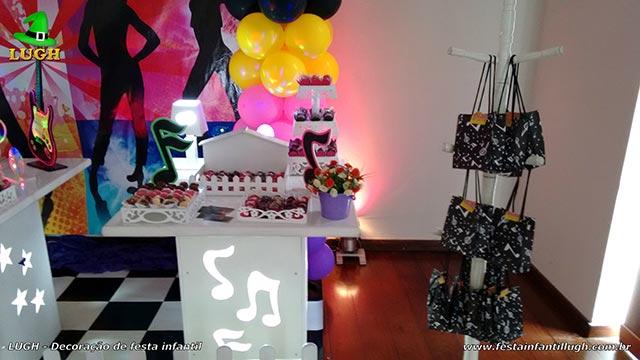 Tema Discoteca para festa de meninas - decoração - aniversário