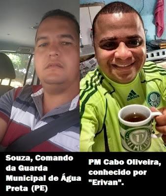 PM de Alagoas atira em comandante da Guarda Municipal de Água Preta (PE), houve revide, ambos morrem e três pessoas ficam feridas