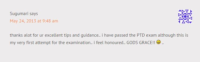 Sumber Rujukan Untuk Lulus Exam Online PTD