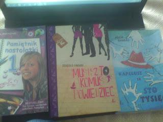 Książki, które dziś pożyczyłam ;)