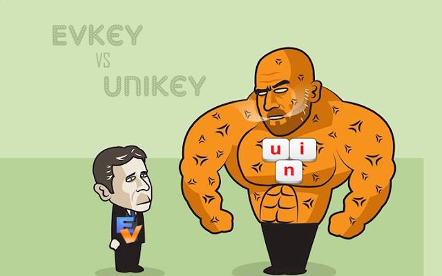 """Unikey vs EVKey - Gã khổng lồ của làng """"gõ tiếng Việt"""" và Tân binh """"mới nổi"""""""